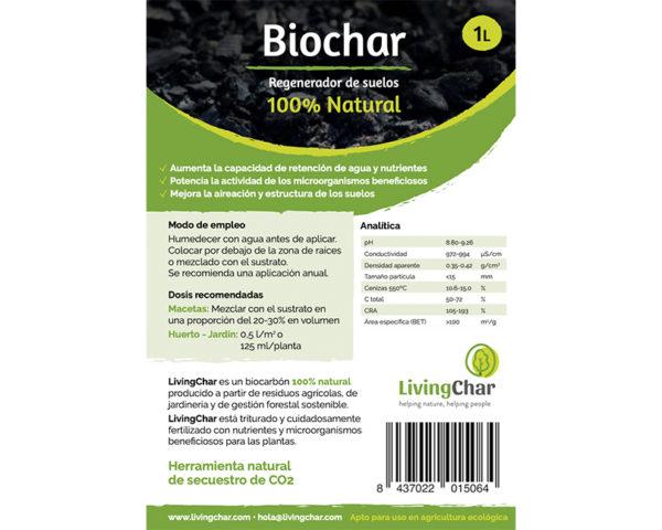 Biochar regenerador de suelos 1L